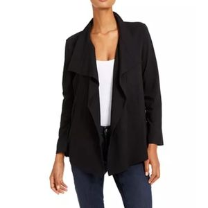 NWT Eileen Fisher Drape Front Jacket Black Small